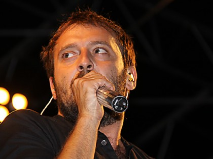 De Italiaanse zanger Cesare Cremonini in 2009
