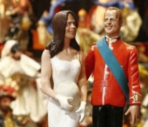 Kate en William in een Napolitaanse kerststal