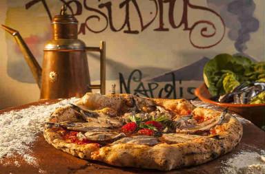 pizza zonder kaas: Pizza Romana