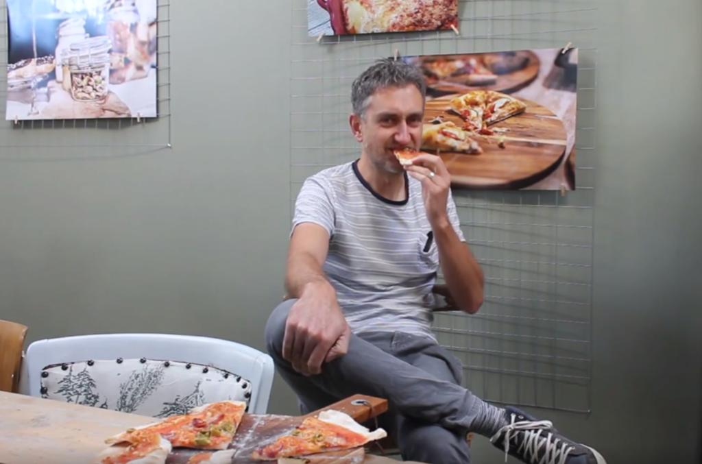 glutenvrije pizza eten
