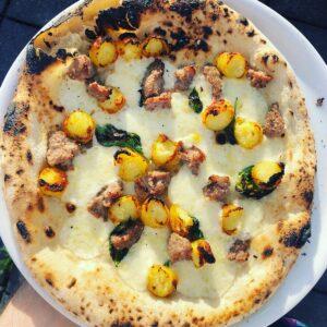 Pizza Crocce met worst